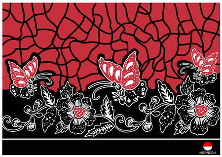 background batik e