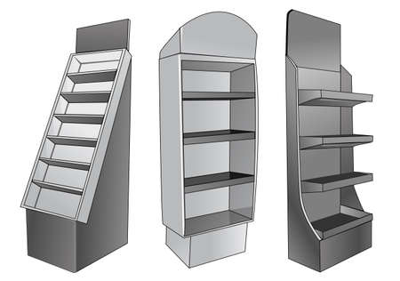 single shelf: a place to store items to be sold