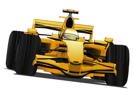 race car driver: formula racing car Illustration