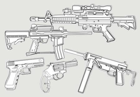 automatic: gun outline