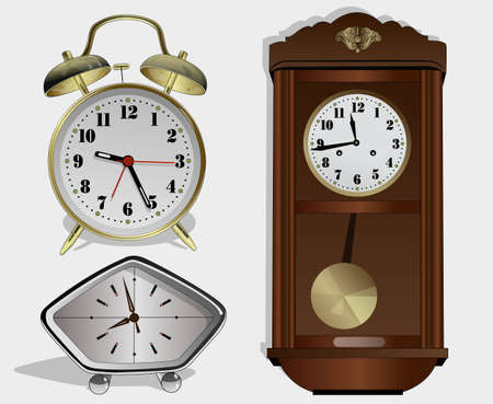 various alarm clock  Illustration