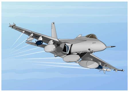 avion de chasse: attaquants dans l'air Illustration