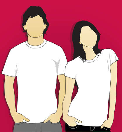 model t-shirt man and woman