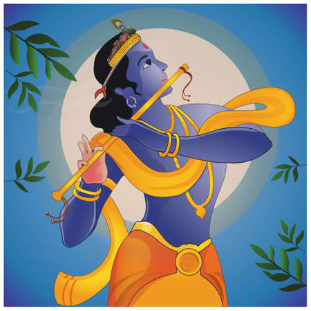 krishna: krishna Stock Illustratie