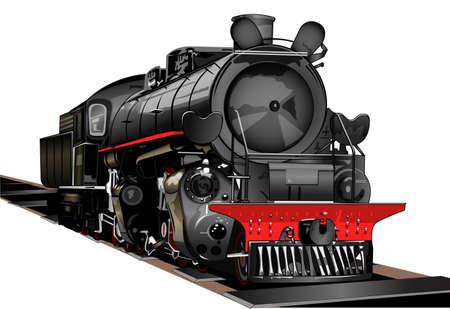 locomotora: el antiguo transporte Vectores