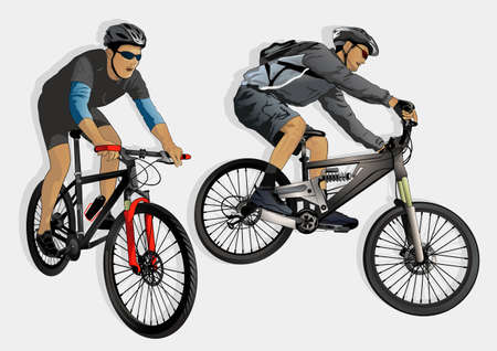 mountain bike racing  Vector