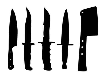 metal knife:  silhouette of vitriolic Illustration