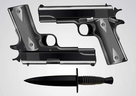 gunfire:  gun   dagger  gun   dagger