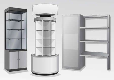 product display: display cabinets