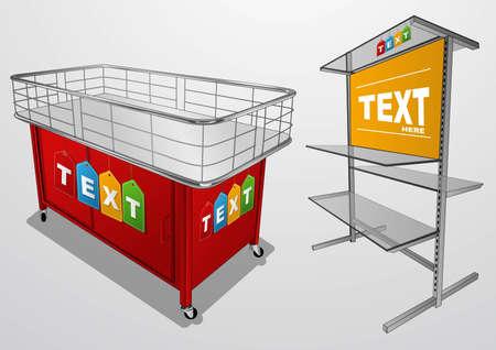 display rack Stock Vector - 22225610