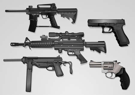 assault rifle: deadly machine guns  Illustration