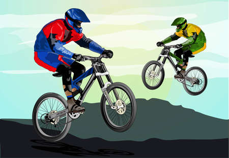 mountain biker: freestyle mountain bike