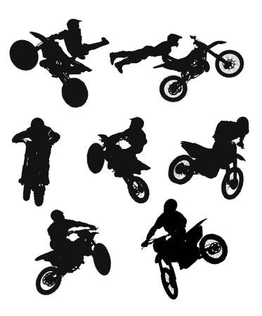 motocross riders: shadow cross