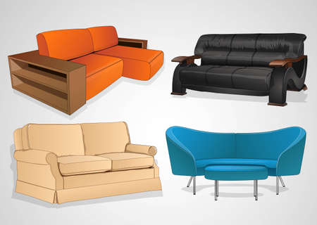 home furnishings: seat of your home furnishings  Illustration
