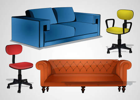 chairs and sofas Vector