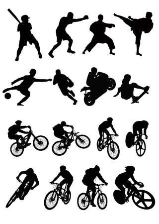 gp: silhouette of sport