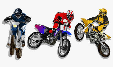 motocross riders: fight cross