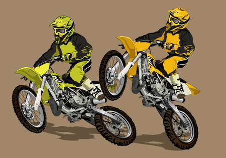 motocross riders: we are crosser Illustration
