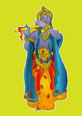 krishna: lord krishna  Illustration