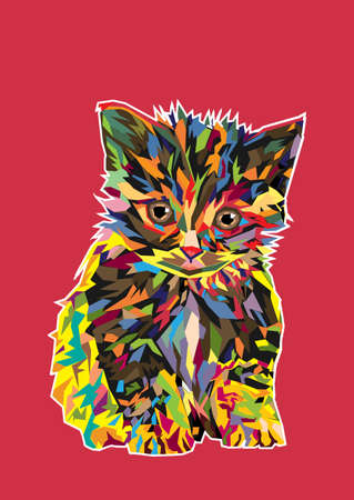 cat fish: cat imagination Illustration