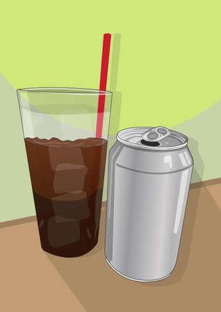 canned drink: soft drink Illustration