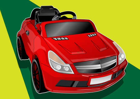 the red kids car