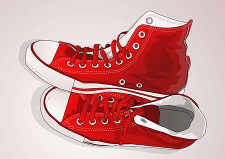 sneakers: red sneakers
