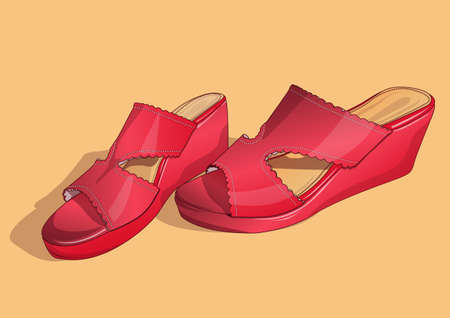 red women's shoes