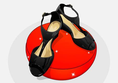 ladies shoes: black high heel