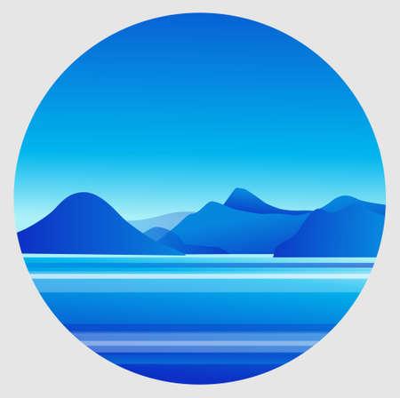 mountain and sea views