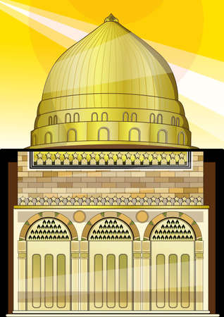 place of worship: gold-domed mosque