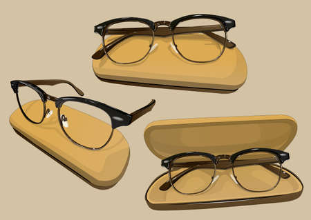 eyeglass: the eyeglass frames Illustration