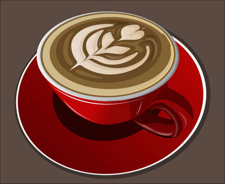 red cup: cappucino in red cup