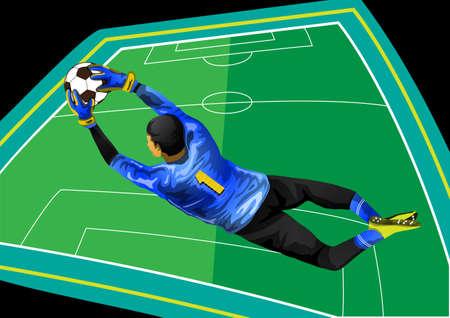 arquero futbol: el portero