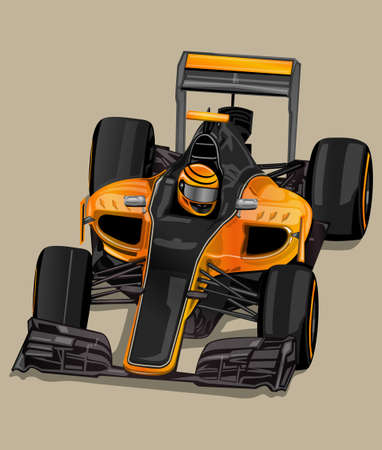 pilot cockpit: racer car Illustration