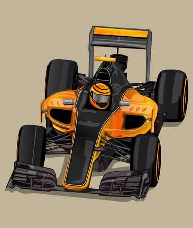 racer: racer car Illustration
