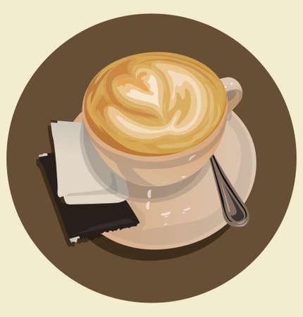 cappucino: cappucino coffee cup