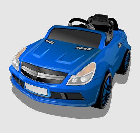 little blue car Illustration