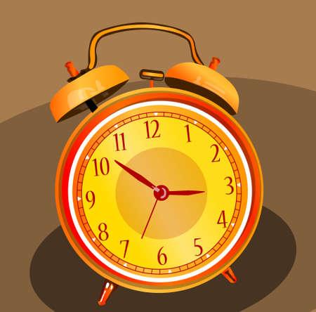 Brightly colored alarm clock