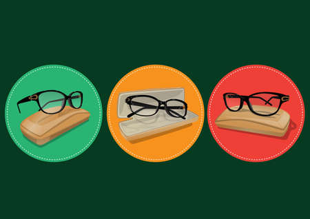 eyeglass: eyeglass frames from different angle Illustration