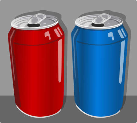 canned beverage packaging Illustration