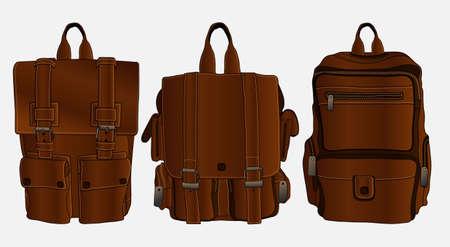 brown backpack very elegant