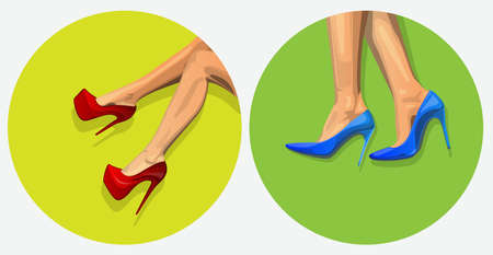 high heels on womens feet