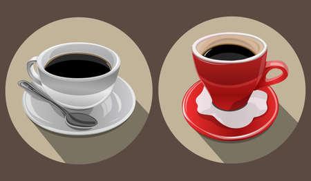 dua cangkir kopi hitam