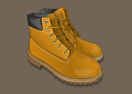 man boot brown Vetores