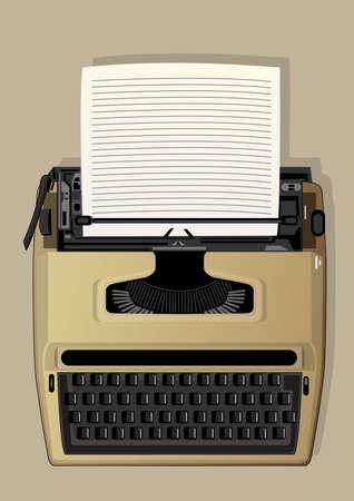 literary man: typewriter Illustration