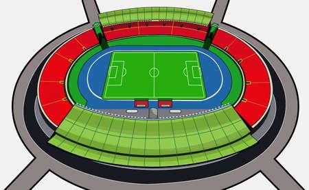 football stadium Illustration