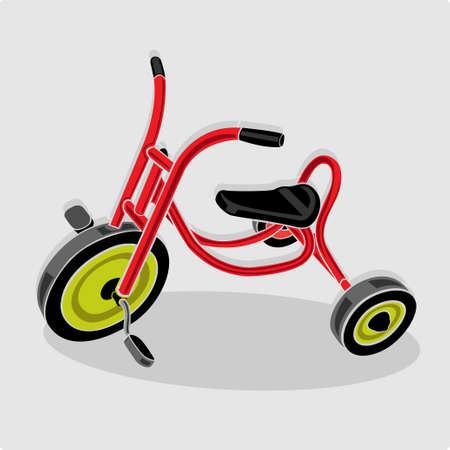 赤い三輪車子供