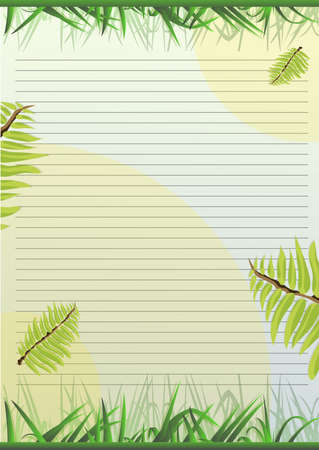 paper with plants and leaves Ilustracja