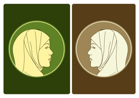 muslim women icon Illusztráció